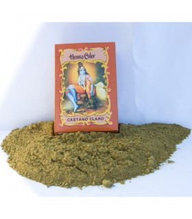 Henna Natural Teñir Pelo - Castaño Claro - Radhe Shyam - 100 gr
