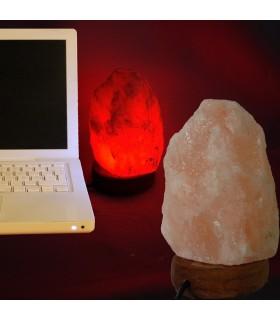 USB-Mini-Lampe natürliches Salz aus dem Himalaya - Orange