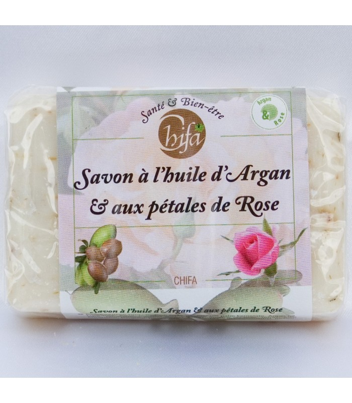 Natural Soap - Argan Oil and Rose Petals-100gr - Chifa