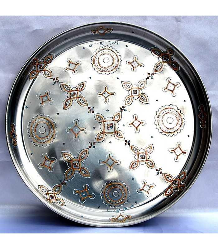 Tea tray Mauritana Painted by Hand -Round - Ethnic - 30 cm