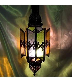 Lámpara Estrella Alargada - Cristales Multicolor- NOVEDAD
