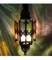 Lámpara Estrella Alargada - Cristales Multicolor - Iluminación