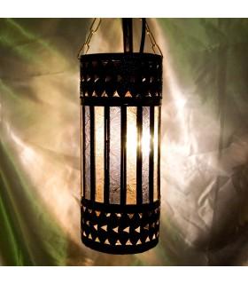 Lampada di cilindro - cristalli bianchi e blu - novità