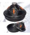Decorative black Tajin bone - Alpaca - Center table