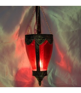 Lámpara Vidrio con Alpaca Pico- Varios Colores - Arabe