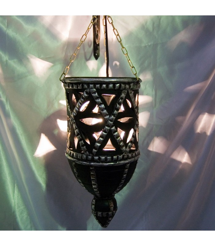 Lámpara Barro Calada - Alpaca - Diseño Arabe - 40 cm