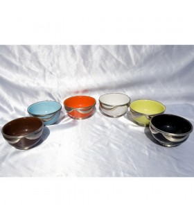 Bowl ceramic - decorated Alpaca - various colors - 3 model