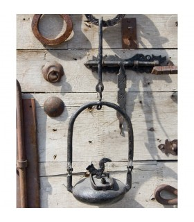 Wrought iron lamp Aladdin - craftsman - oil - 35 cm