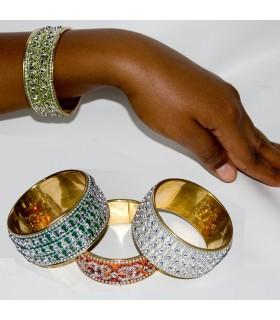 Браслет золотой бриллиант - 7 x 3,5 cm - новые