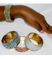 Bracelet gold brilliant - 7 x 3,5 cm - new