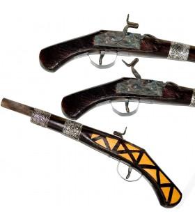 Espingarda Madera Decorativa - Artesana - Pequeña - 43 cm