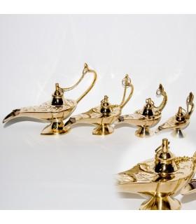 Set 4 Candíles Genio Aladino Bronce -Decorados Grabaciones