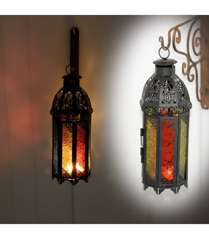 Multicolor Octogonal Candle Lantern - Draft Arab