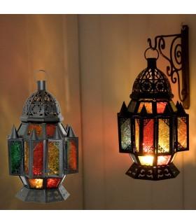 Lámpara Picos  Decorada -  Calado Arabe - Multicolor - 2 Tamaños