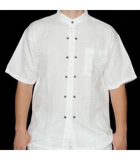 Camisa de algodão branco - Botões - Vários tamanhos