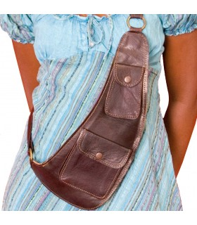 Artisan - several pockets - leather shoulder bag