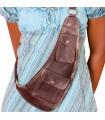 Artisan - several pockets - leather shoulder bag