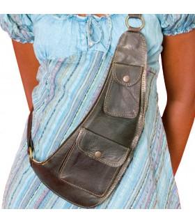Handwerker - mehrere Taschen - Leder-Umhängetasche
