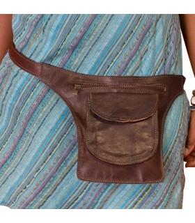 Ceinture en cuir - Plusieurs poches - Artisan