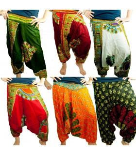 Pantalón Bombacho - Algodón Estampado - Talla Unica - Colores