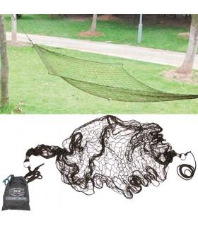 Hamaca Malla Verde - 185 x 50 cm - Portatil - Bolsa Transporte