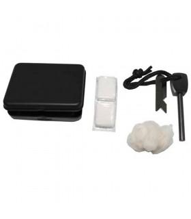 Home Fire Kit - Flint - Cotton - On pill will