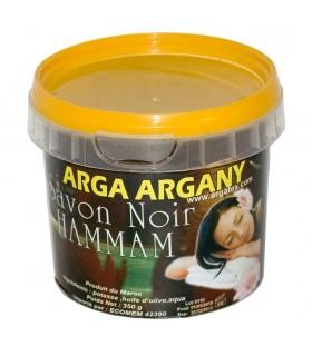 """Organic soap """"Beldi"""" Black - Ideal Arabic Hamman - Bottle 250gr"""