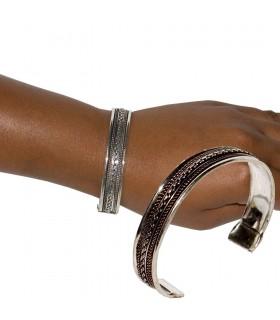 Tratti di braccialetto d'argento - stampa fine - nuovi