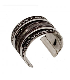 Double plated wide Bangle path - NOVELTY