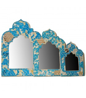 Mirror Arab mosaics - 2 colors - 3 sizes - Andalusian design