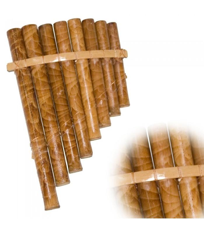 Flauta de Pan - 8 Cañas - 22 cm x 13 cm