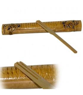 Рача Рача ящерица - тростниковый бамбук - скребок