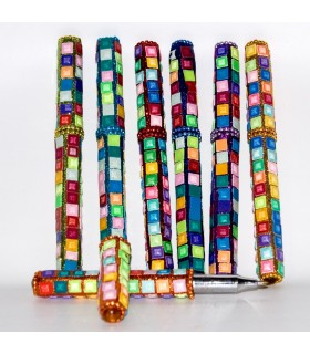 Pen Mirror - Various Colors - 12 cm - Squares