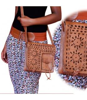 Bolsa em couro feito à mão - Projecto de Design Floral - 3 Bolso