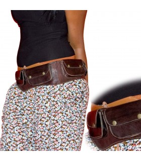 Long leather Fanny - 4 pockets - artisan - preferred