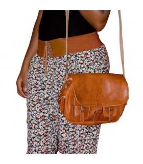 Ручная сумка-кожа - 6 карманов - 2 цвета - ремесленник