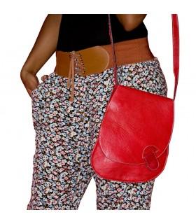 Bolsa em couro feito à mão - cores - 3 Bolsos