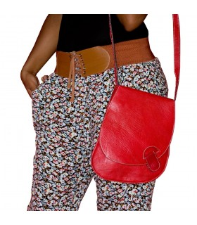Карманы ручной работы кожаный мешок - цветов - 3