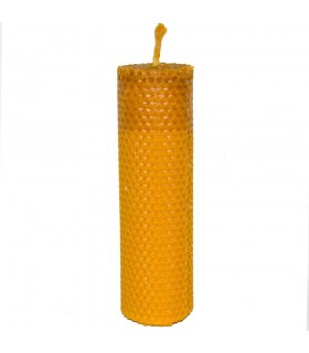 Kerze Wachs Jungfrau von Biene Handwerk rund - 17,5 x 5 cm