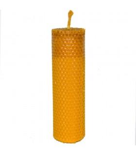 Bougie de cire vierge d'embarcation abeille ronde - 17,5 x 5 cm