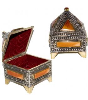 Cajita NaranjaOrange Box - Forrado-Alpaca and Bone-Crafted