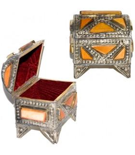 Оранжевая коробка хобота - покрыты Альпака и кости - ручной