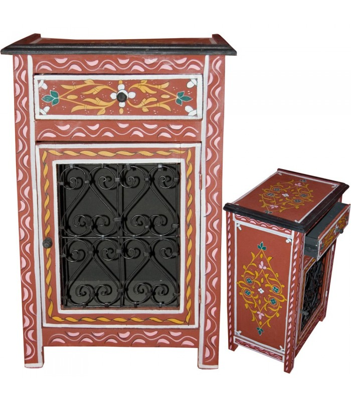 Bedside Table Al Andalus Forge - Hand Painted - Several Colors