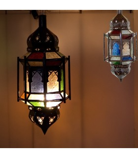 Hanging Lamp - Multicolor - Bars-Andalusian - Arabic