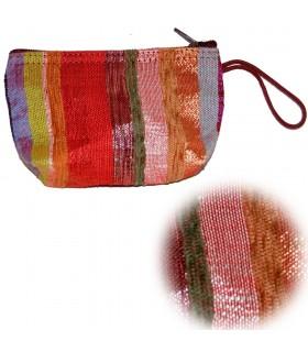 Silk bolsa Cactus - Multicolor - Zip - Artisan