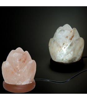 USB mini lamp salt Himalayan pink - orange Color