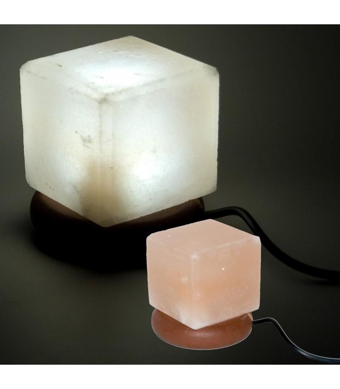 Mini Lámpara USB Sal Cubo del Himalaya - Color Naranja