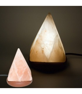 USB mini lampe sel pyramide de l'Himalaya - Orange