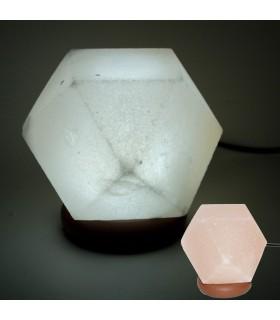 USB Mini Lampe Salz Himalaya - Orange Diamanten