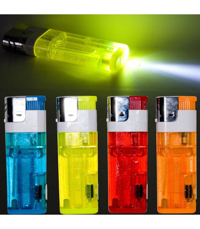 XXL Gas Lighter - With Flashlight - Rechargeable - 11.5 cm